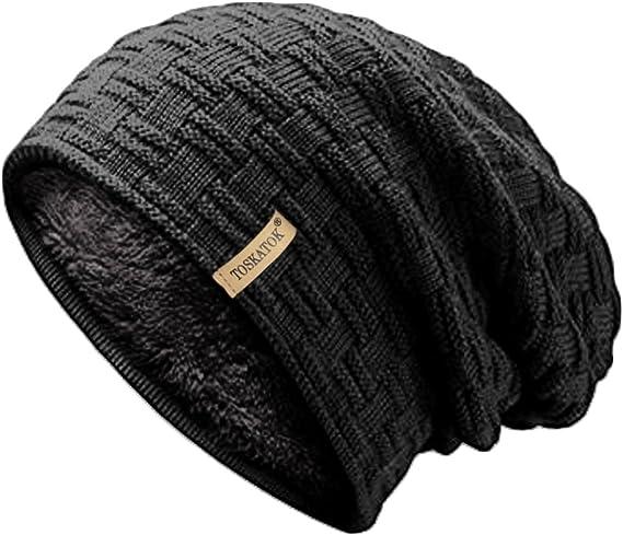 fur lined Snowboard Bobble Beanie Hat One Size Unisex RockJock Marl Ski