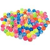 Novelty Super Bouncy Balls - 100-Piece High Bouncing Balls - Bulk Assorted Colors and Designs