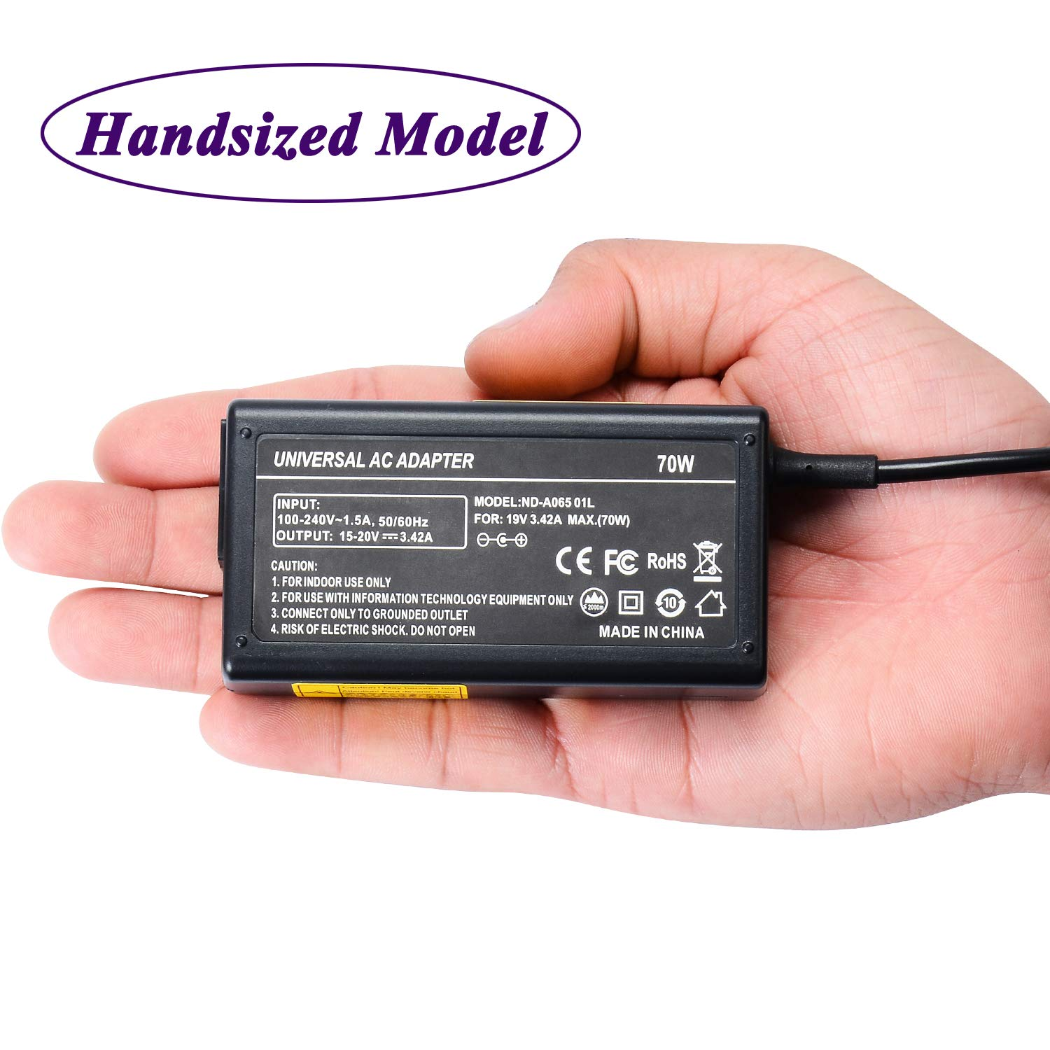 70W Laptop Charger 19V 3.42A Notebook AC Adapter for Lenovo Thinkpad E431 E440 E450 E450C E460 E470 E470C E475 E531 E560 E565 E570 E570C E570C E575; X230 X230S X240 X240S X250 X260 X270; T431 T431S T440 T440S T450 T450S T460 T460S T470 T470S;S1 S2 S3 S5Yog