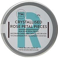 Sous Chef Piezas de pétalos de Rosa cristalizados