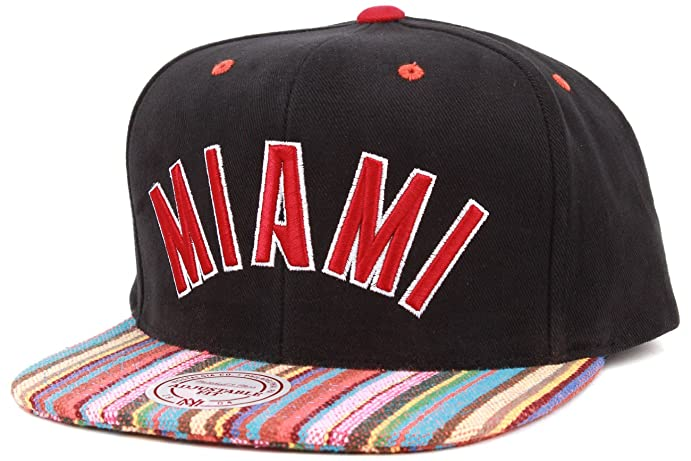 purchase cheap ece2b 2af31 ... norway mitchell ness native stripe canvas miami heat snapback ea86a  c72a5