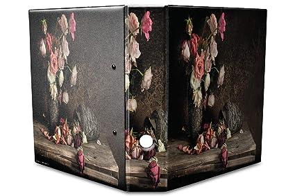 Archivador A4 Carpeta 2 anillas 60mm impreso Flores naturaleza muerta