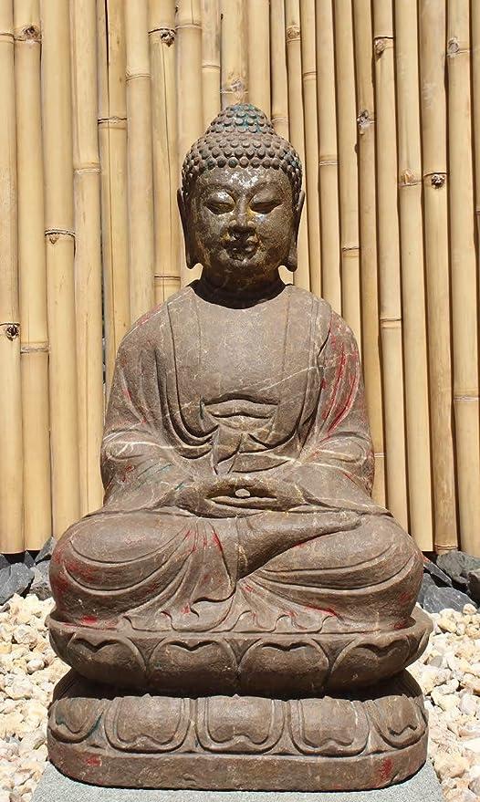 Asia Lifestyle - Estatua de Buda para jardín, 72 cm, Piedra ...