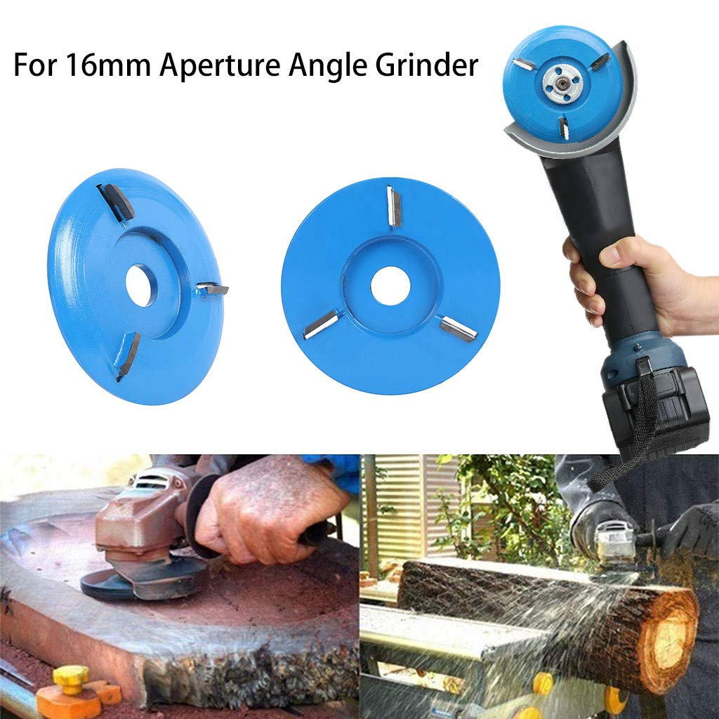 Zumint Heavy Duty Extreme Shaping Disc A 90mm Diameter 16mm Bore Blue Power Wood Carving Disc Angle Grinder Attachment Coarse Wood Carving Disc for Angle Grinder