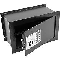 PrimeMatik - Caja Fuerte de Seguridad empotrada con código electrónico Digital 40x20x25cm Negra
