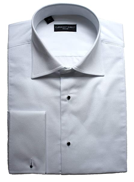 08eff73c1ef Clermont Direct Stud Front 100% Cotton Marcella Shirt Fold Down Collar   Amazon.co.uk  Clothing