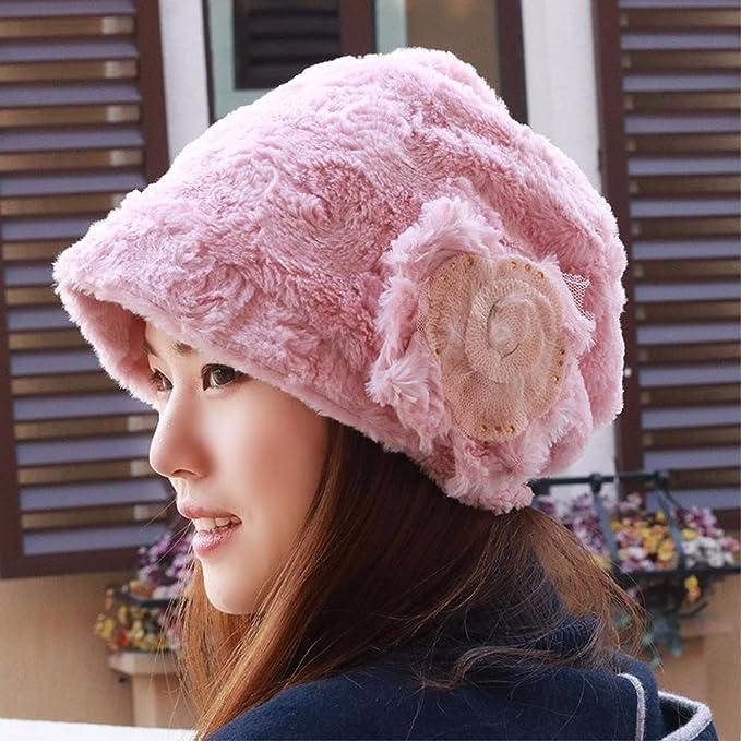 QIER-MZ Sombrero Gorra de Mujer Turbante otoño e Invierno Set Head ...