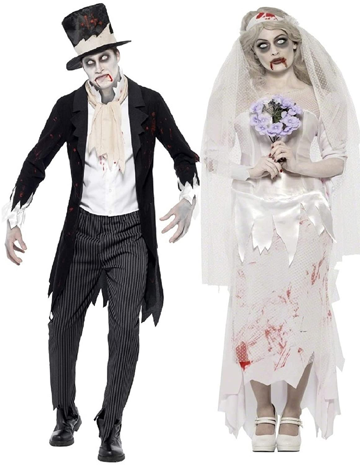 Amazon.com Mens Ladies Couples Fancy Dress Zombie Ghost