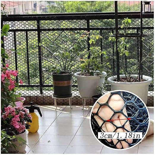Balcón Y Escalera de Red de Seguridad Cat Red de Protección - Negro - Baby Kids Niños Pequeños Pet Barandilla De Escalera Net - Seguridad De Los Niños;Seguridad For Mascotas;Protector De Escaleras: