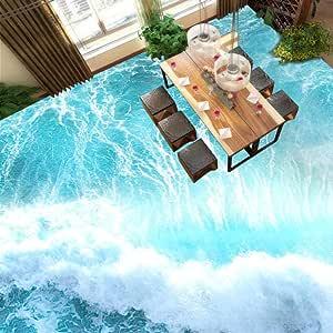 Papel tapiz de suelo 3D personalizado Olas del mar ...