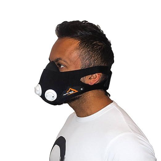 Maschera Allenamento,Elevazione Sport Maschera 3.0 Regolabile Formazione Anaerobica Allenamento Altitudine M--OUTERDO: Amazon.es: Deportes y aire libre