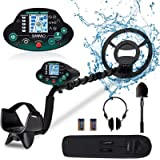 OMMO Metal Detector for Adults & Kids, High Accuracy Adjustable Waterproof Metal Detector, with Pinpoint & Disc & All Metal M