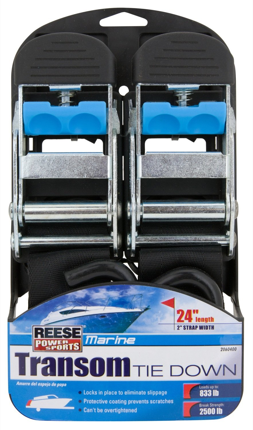 Reese Powersports (2060400) 24'' 2-Piece Transom Tie Down by Reese Powersports (Image #1)