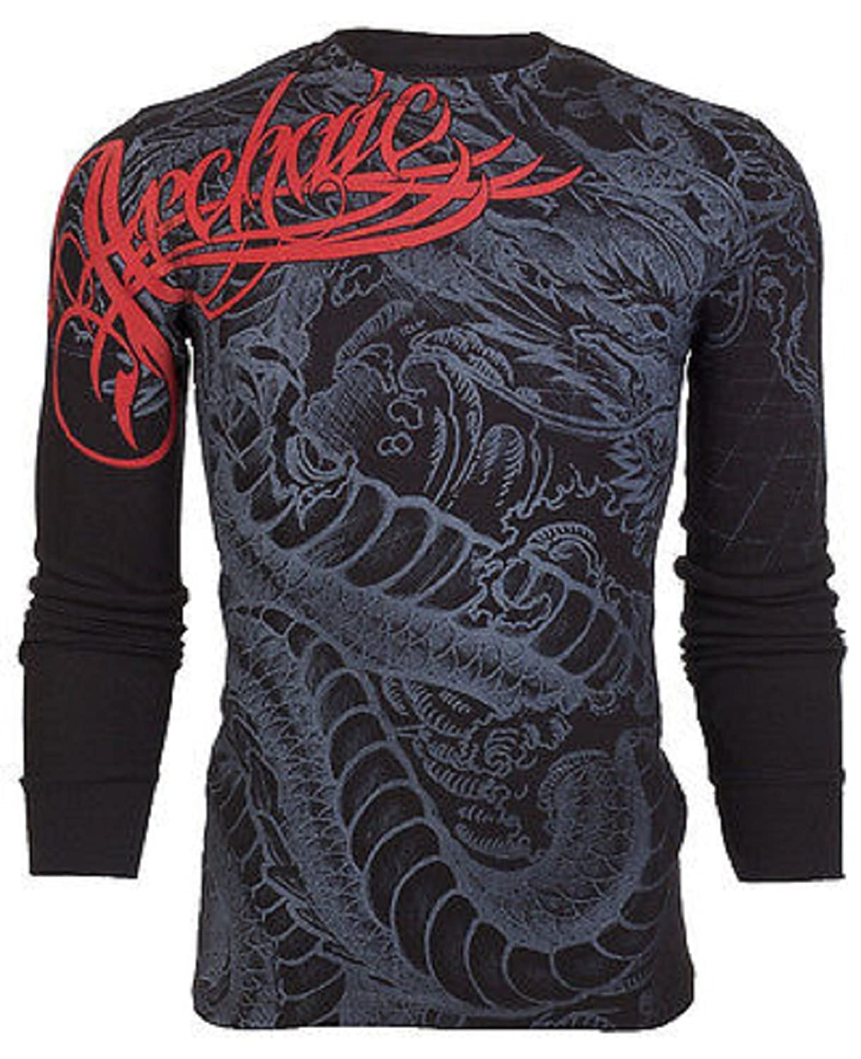Amazon.com: Archaic AFFLICTION Mens THERMAL T-Shirt DRAGON RAGE Tattoo  Biker UFC Long Sleeve: Clothing