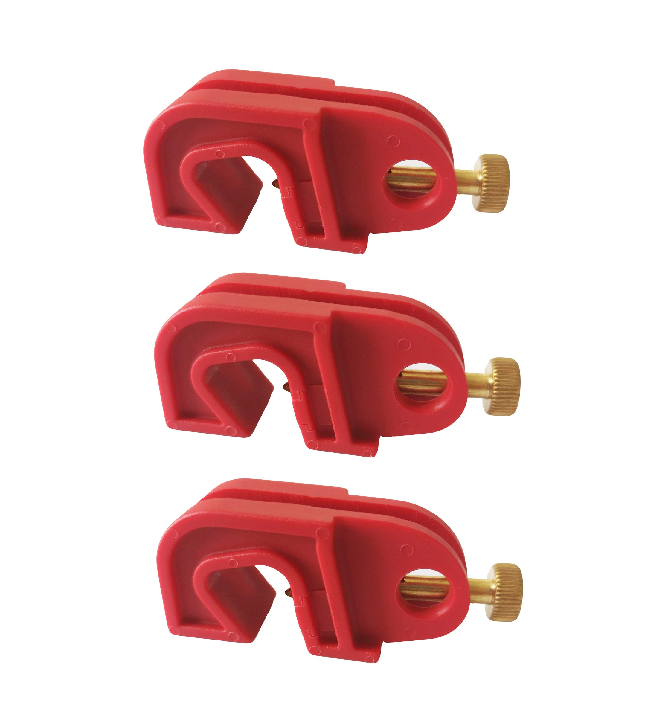 Induschoice Universal Single Breaker Lockout,3 Pack