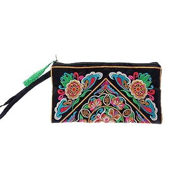 Amazon.com: OULII bolso para mujer hecho a mano estilo chino ...