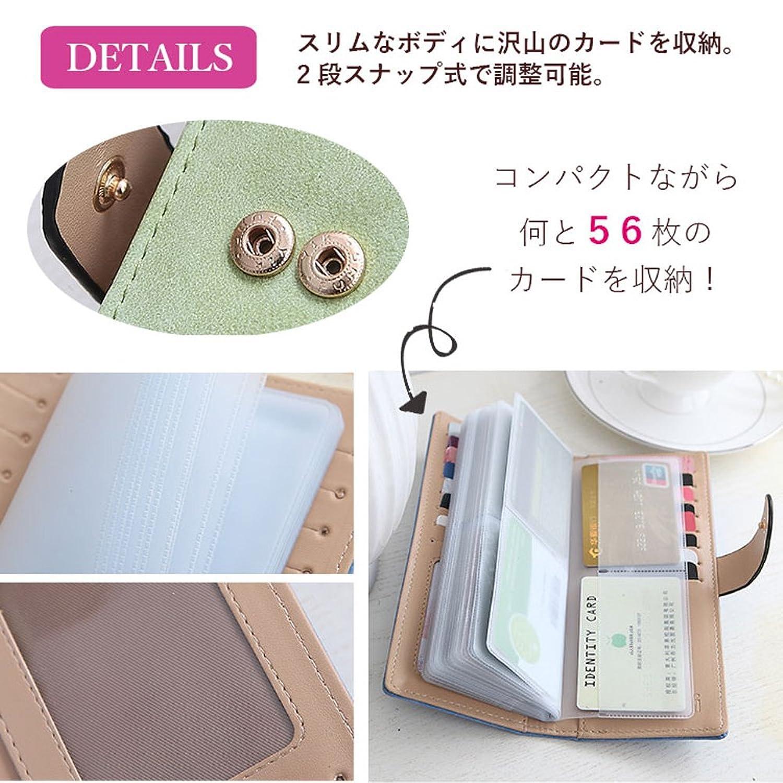 S-BBG フラワープリント カードケース 名刺入れ 財布 56枚収納 オシャレ レディース コンパクト 可愛い