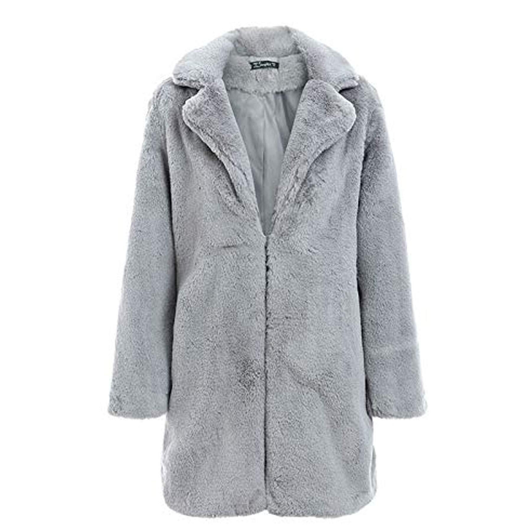 Ultramall Women Jacket Warm Thick Outerwear Coat Loose Long Overcoat Winter by Ultramall