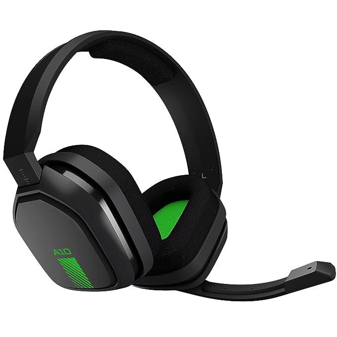 ASTRO Gaming A10 - Auriculares con micrófono y cable compatibles con Xbox One, PlayStation 4, PC, Mac, Negro/Verde: Amazon.es: Informática
