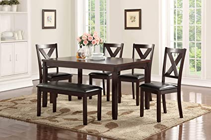 Astonishing Amazon Com Mollai Collection Dining Table And 4 Chairs 1 Ibusinesslaw Wood Chair Design Ideas Ibusinesslaworg