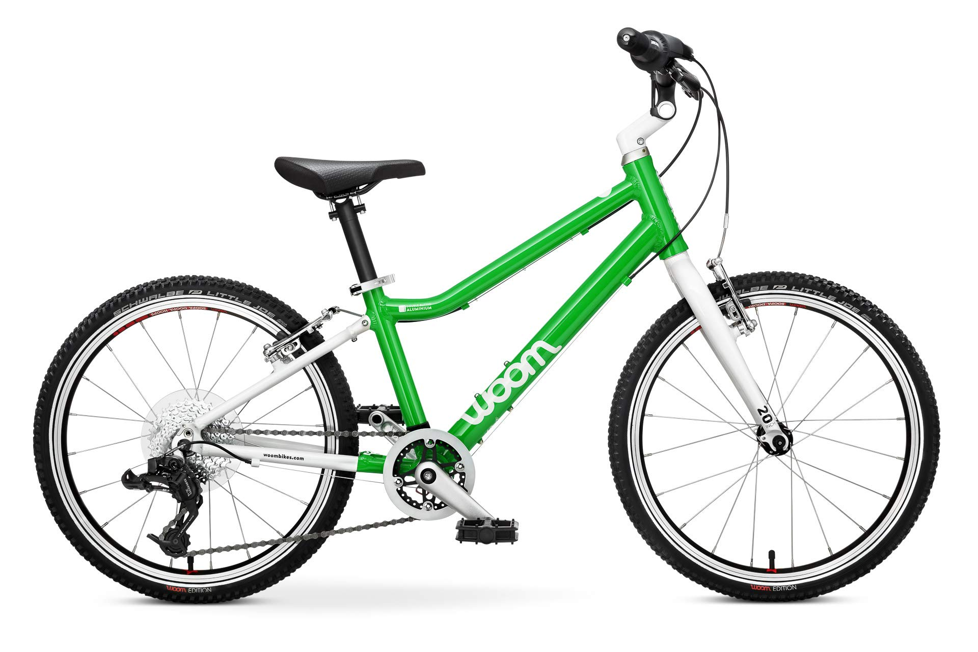 "woom 4 Pedal Bike 20"", 8-Speed, Ages 6 to 8 Years, Green"