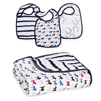 Baby Bibs & Burp Cloths Aden Baby Muslin Snap Bibs 3-pack Dream Feeding