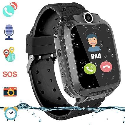 Amazon.com: Reloj inteligente impermeable para niños, niñas ...