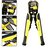 Wire Stripper DANIU Self-Adjusting Wire Stripper,Professional Cable Cutter Crimper,Household Automatic Cutting Plier,Wire Stripping Terminal Tool for Industry10-24AWG(0.2-6.0)