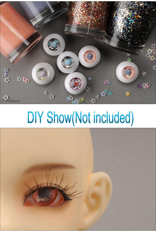 1 Pair 12mm BJD DIY blank acrylic no pupils eyes half ball