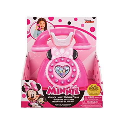 Just Play Girls Minnie Happy Helpers Rotary Phone Playset: Toys & Games