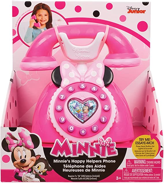 Pink Minnie Mouse Happy Helpers Why Hello Cell Phone