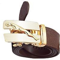 EdifierJaguar Brown Leather Belt for Men