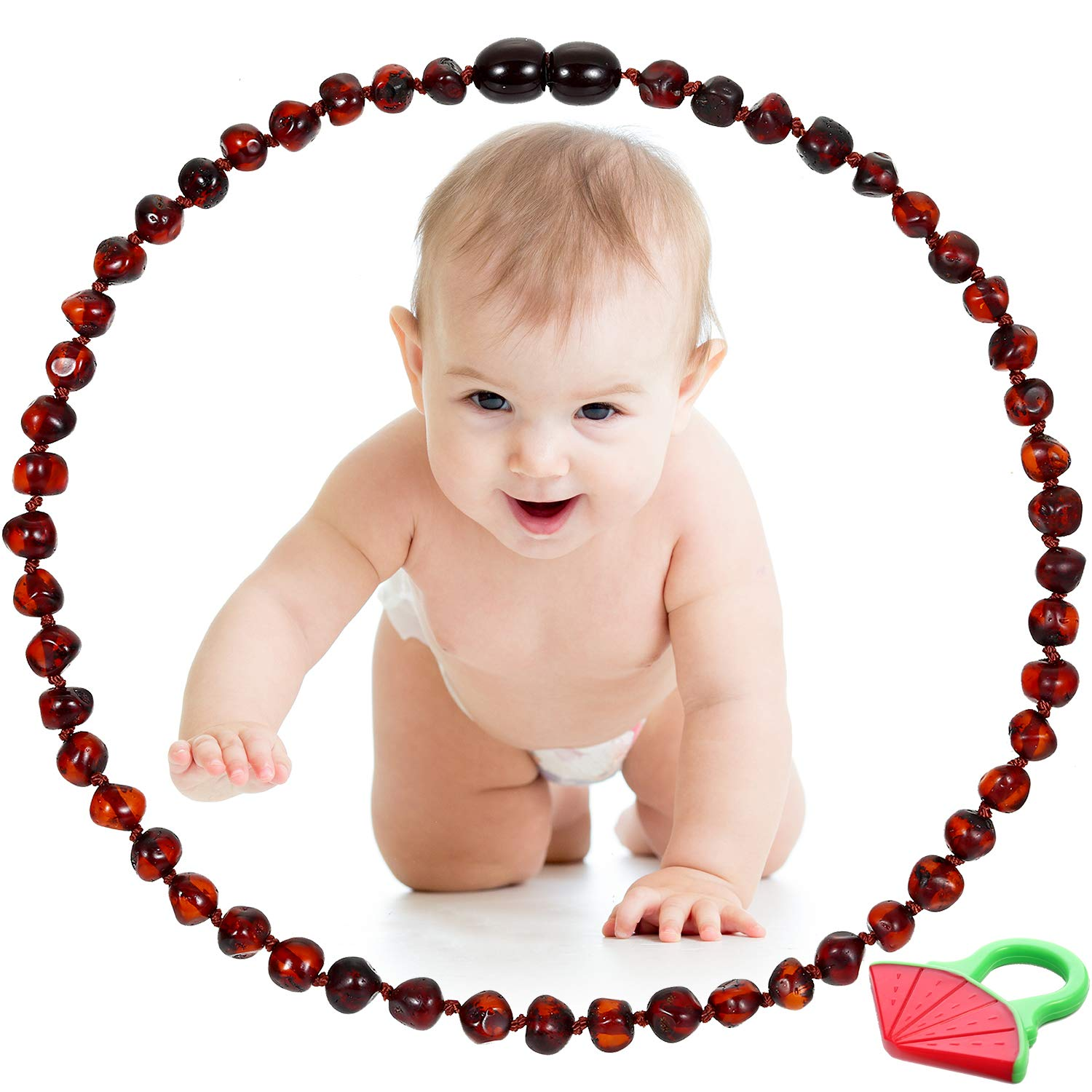 Amazon Com Raw Baltic Amber Teething Necklace For Babies