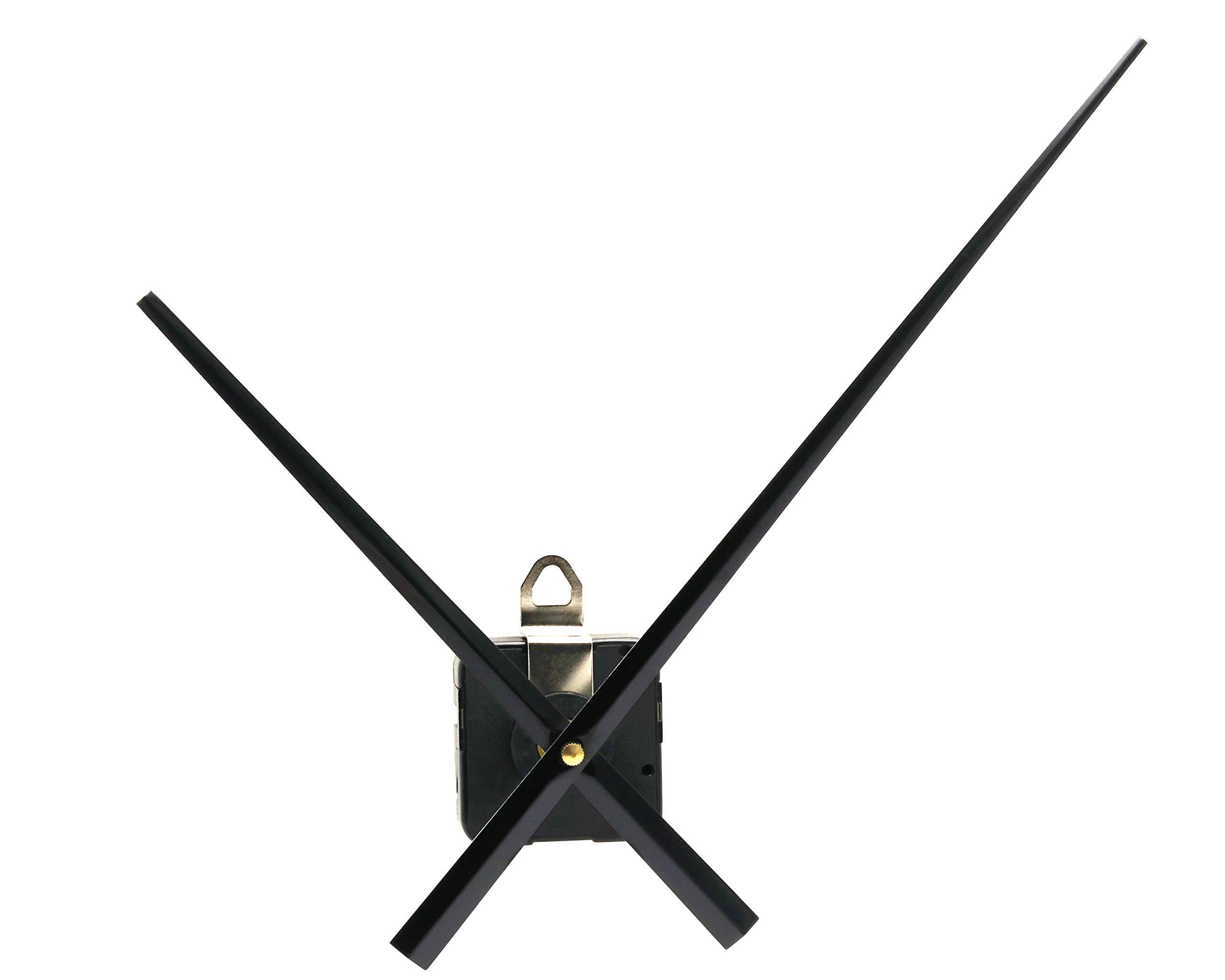 Youngtown 12888 High Torque Long Shaft Clock Movement Mechanism with 9.6 Inch Long Spade Hands.
