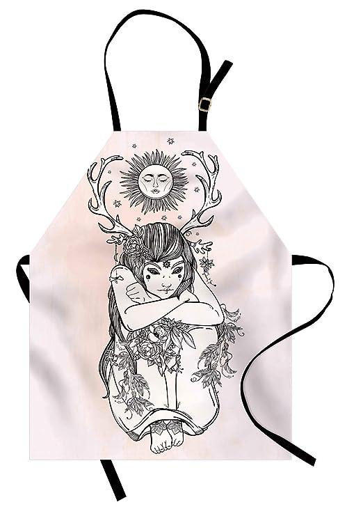 Abakuhaus - Figura Decorativa de niña Desnuda bajo la Hada de la ...