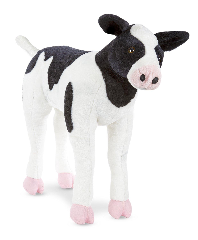 Amazon Com Melissa Doug Giant Calf Lifelike Stuffed Animal Baby
