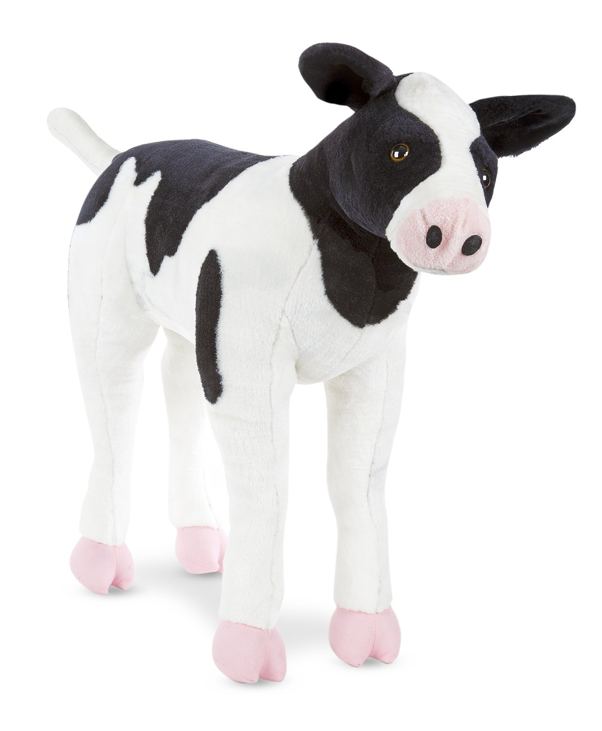 Melissa & Doug Giant Calf - Lifelike  Stuffed Animal Baby Cow (2 feet tall)
