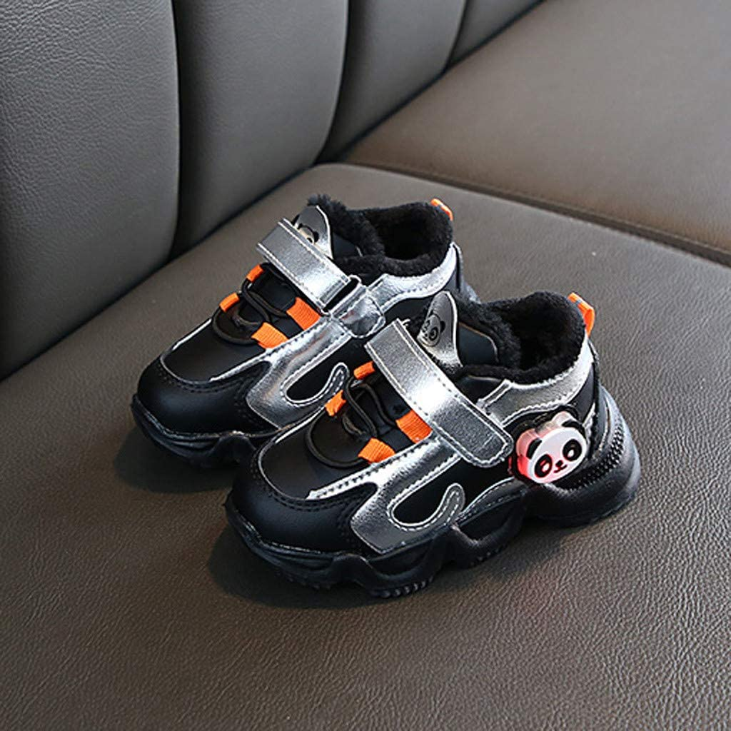 DAY8 Chaussures Garcon Hiver Chaude Fourree Basket Garcon Montante Basket Fille Basse Sport Lacets Sneakers Fille Pas Cher a la Mode Botte Fille Antid/érapant Semelle Caoutchouc