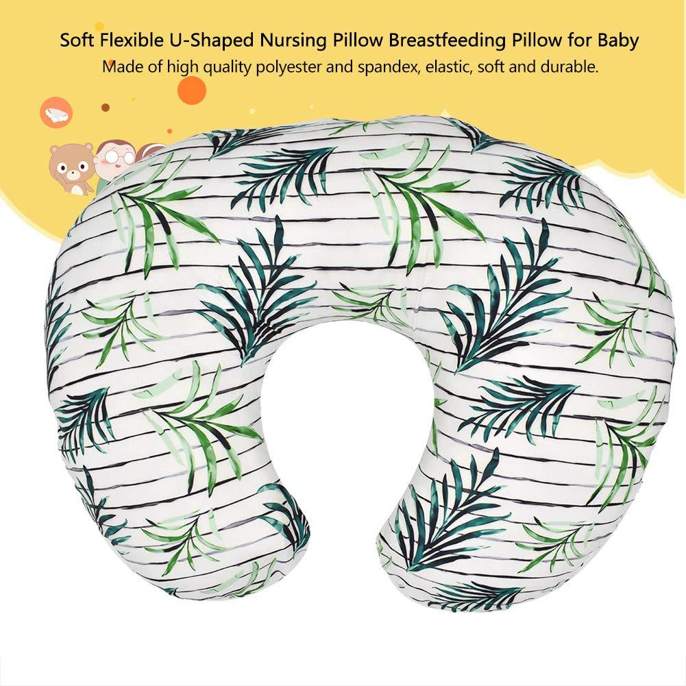 Breastfeeding U-Shaped Nursing Pillow Baby Lounger Cover Pillow Soft Fabric Fits Snug Flexible Nursing Pillow for Babies Nursing Baby Shower Gift purple flower