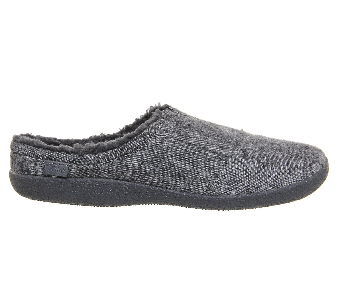 6375d8f79 Galleon - TOMS Men's Slippers Berkeley Grey Slub Black Teal Tribal Wool 7  D(M) US