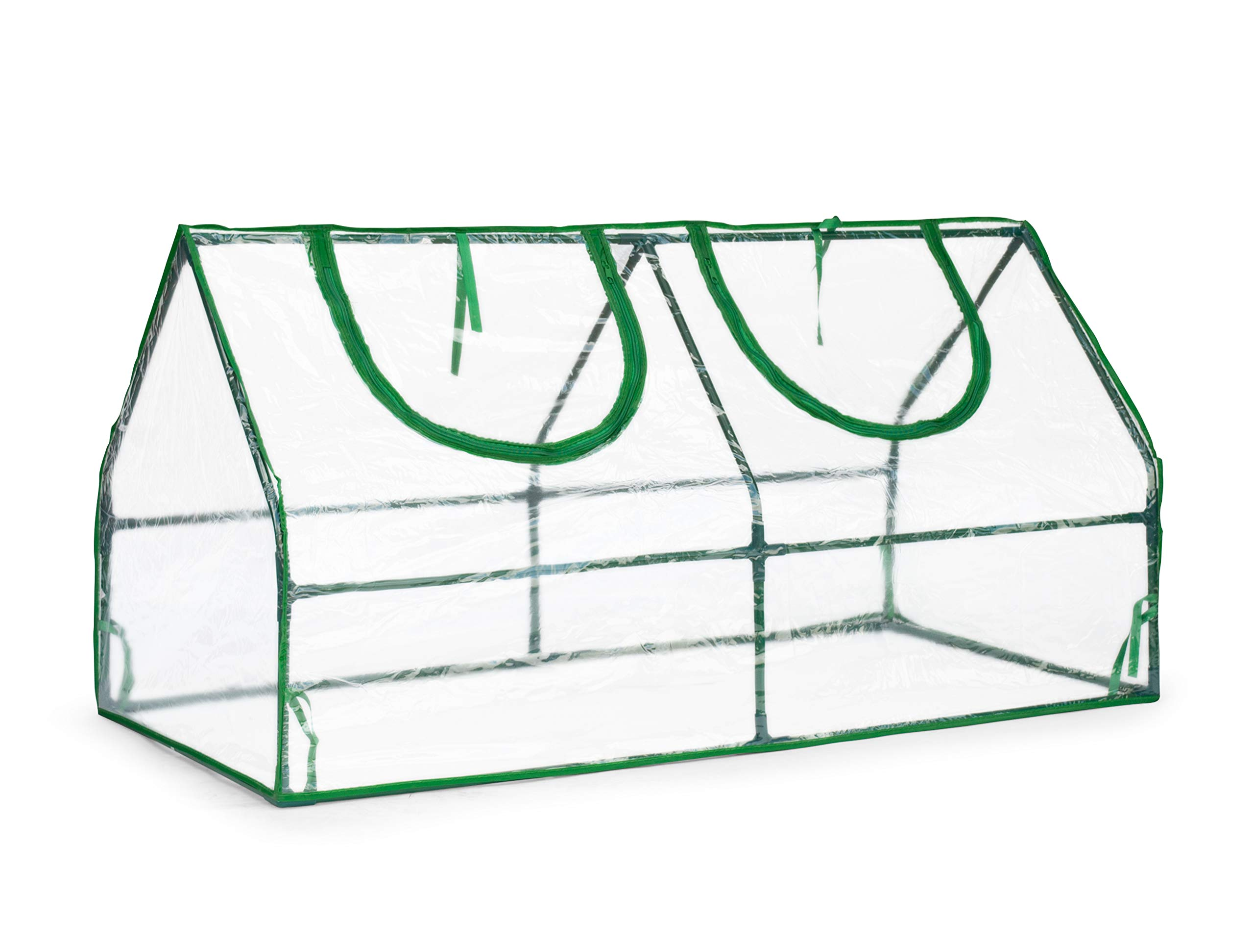 Topline Outdoor Mini Garden Greenhouse with Zipper Openings - 47 Inch