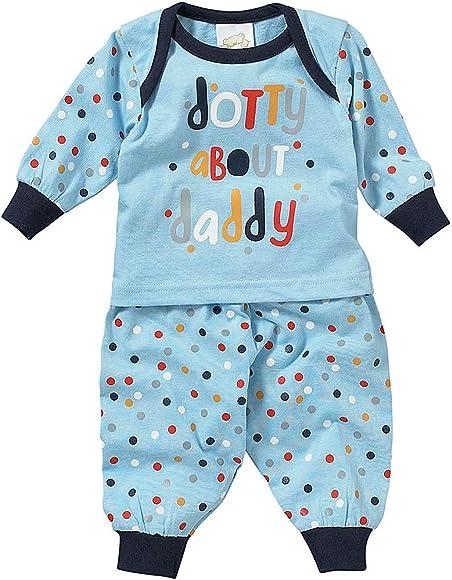 Lullaby Baby Boys Love /& Cuddles = Happy Long Pyjamas