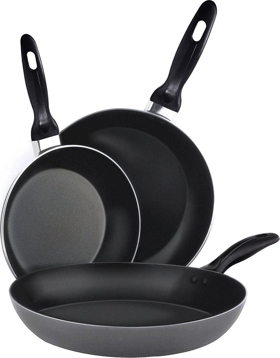 Amazoncom Aluminum Nonstick Frying Pan Set 3Piece 8 Inches