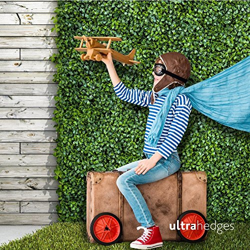 (UltraHedge Artificial Boxwood Hedge | Decorative Wall Greenery Fence Covering | Indoor and Outdoor 20