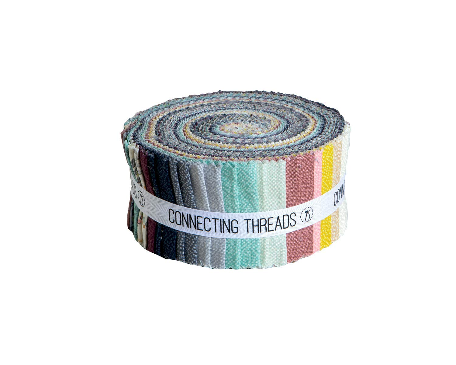 Connecting Threads Print Collection Precut Quilting Fabric Bundle (Tessallations - 2.5'' Strips)