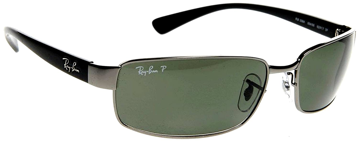 8ce2450566 Ray-Ban Polarized Sunglasses RB 3379 004 58 64mm + SD Glasses + Cleaning  Kit  Amazon.co.uk  Clothing