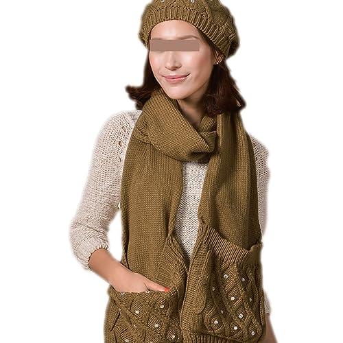 QPALZM Mujer Otoño E Invierno Nueva Costura Hecha A Mano Completa De Color Llanura Sombrero Grande B...