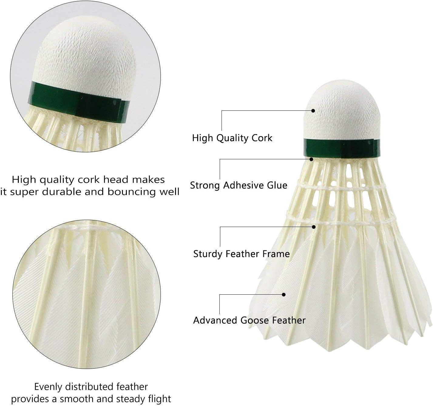 12 Stück bunte Kunststoff Badminton Ball Federbälle Sport Training Sport G ~YXCZ