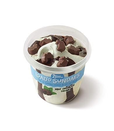 Blue Bunny Mint Chocolate Chunk Loadd Sundaes Ice Cream Cup 85 Fl