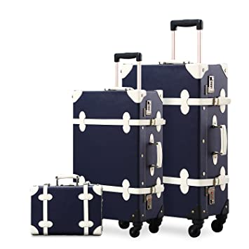"Unitravel - Juego de maletas unisex adulto azul marino 12"" ..."